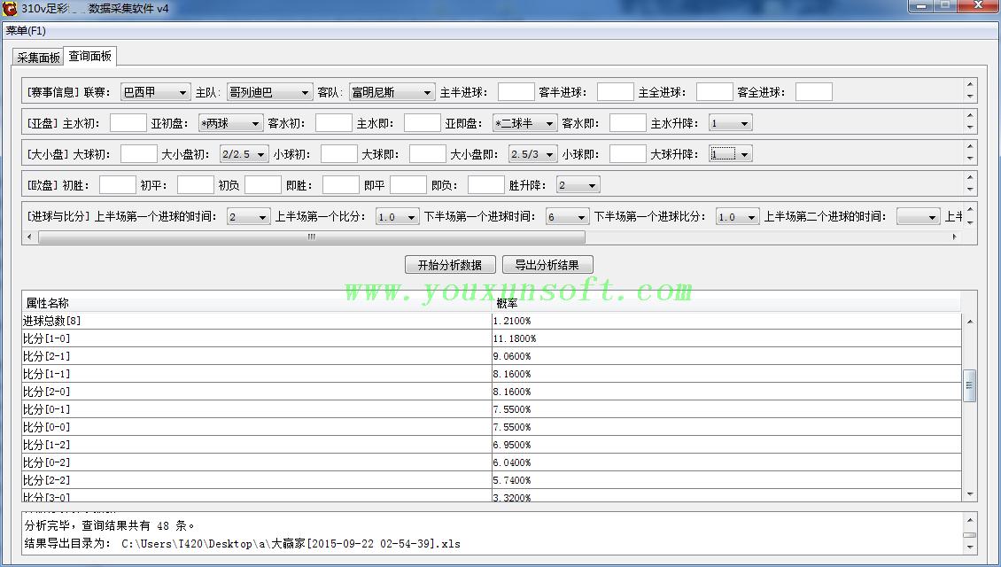 大赢家足球赔率数据采集软件V4-3
