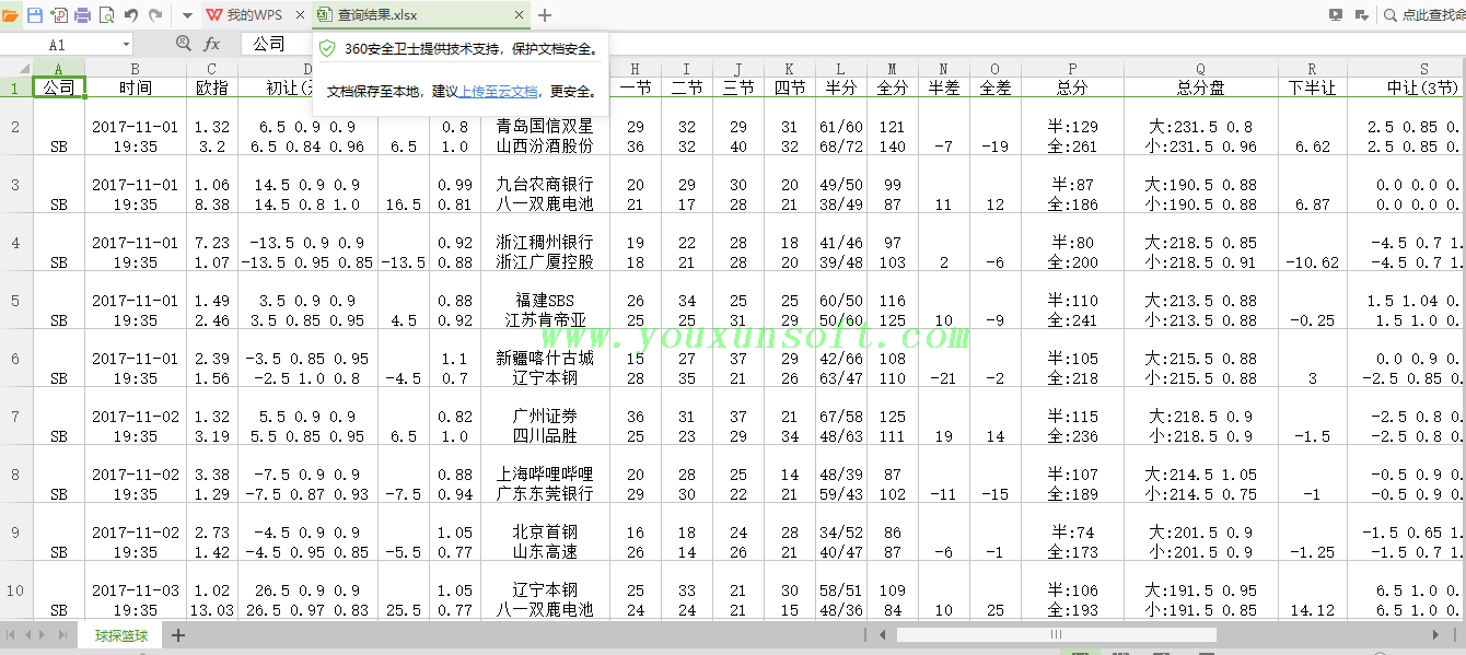 球探网篮球赔率数据采集V1