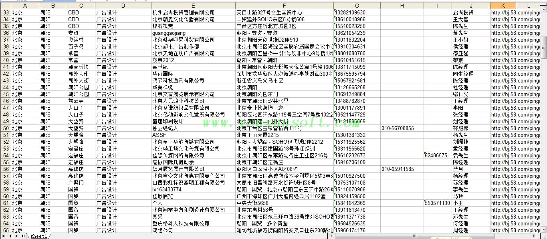 58同城网招聘商务分类信息采集器V3-4