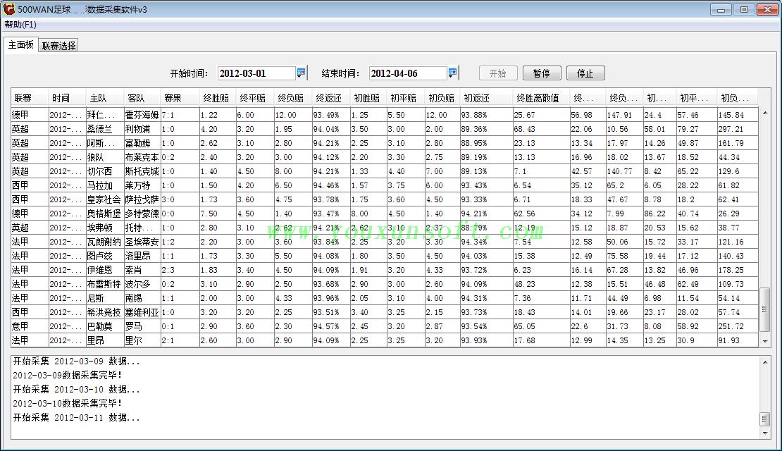 500足球赔率数据采集软件-8