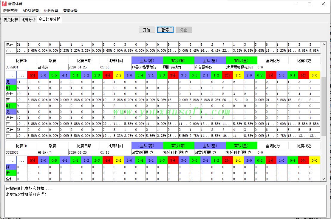 雷速体育足球比分抓取采集分析_4