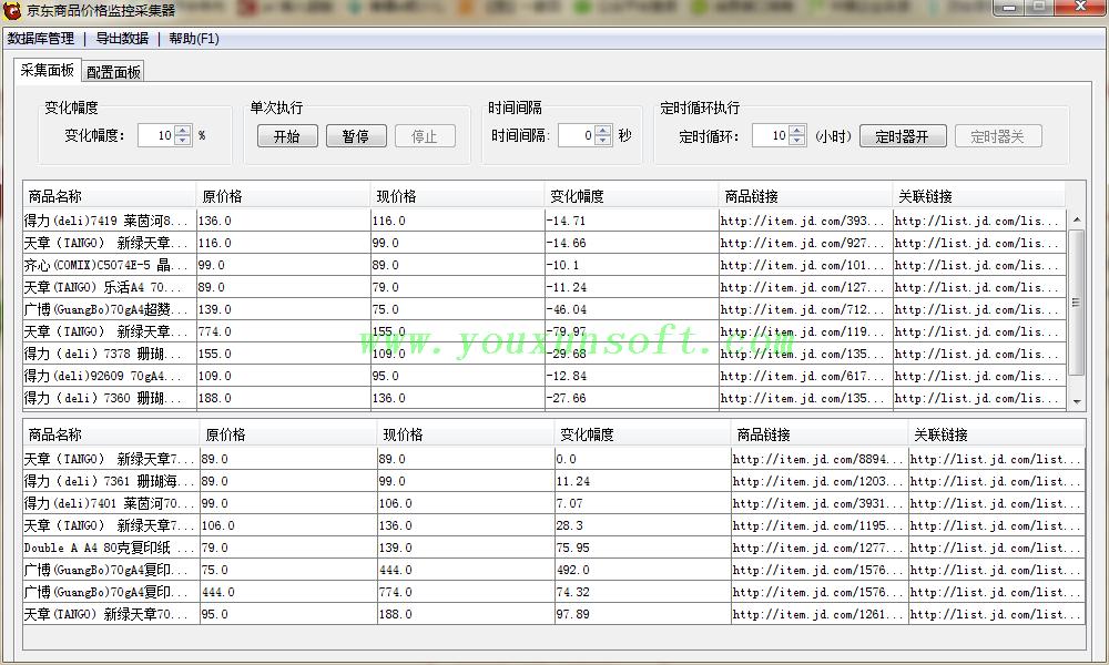 京东商品价格监控采集器