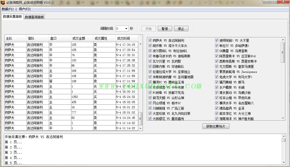必发指数网_必发成交明细数据采集器V2