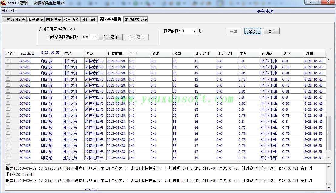球探网足球赔率数据采集器V6-6
