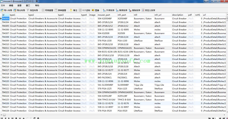 mouser电子元器件采集软件V3_8