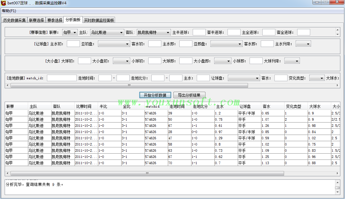 球探网足球赔率数据采集监控器V4-3