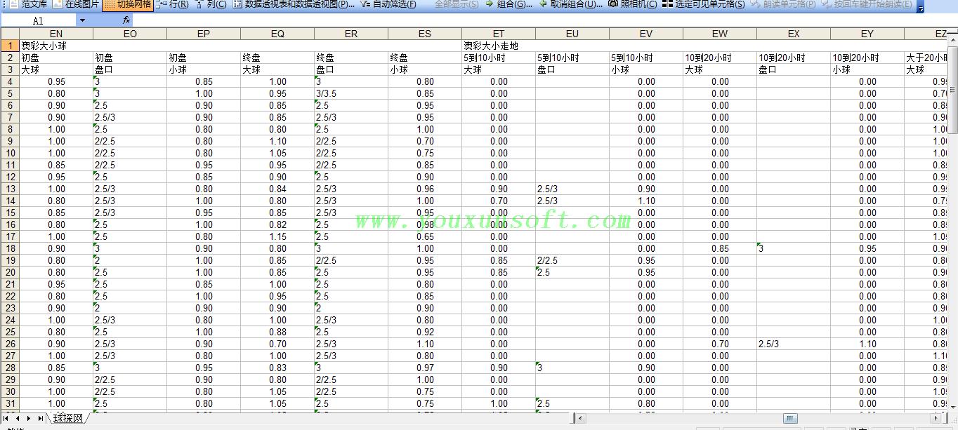 球探网足球赔率数据采集分析器V8-6