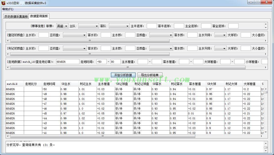大赢家体育网足球赔率数据采集软件v3-1