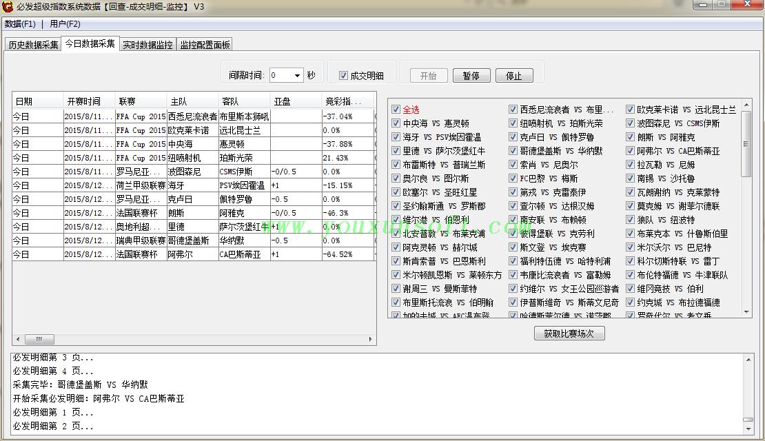 必发超级指数系统数据[回查-成交明细-监控]V3-6