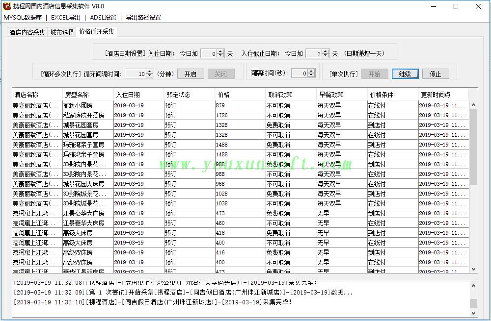 携程网国内酒店信息采集抓取软件V8.0_5