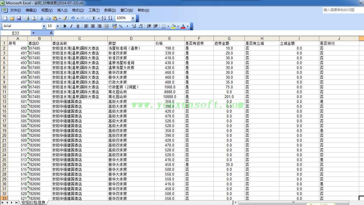 携程网国内酒店信息采集软件V3-3
