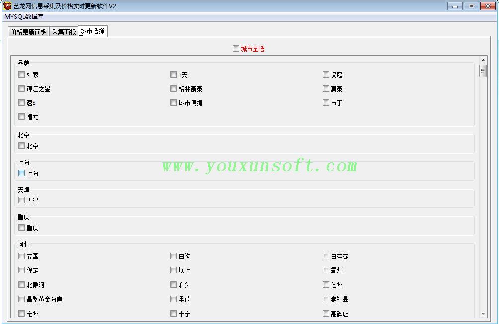 艺龙网酒店信息采集及价格更新软件-6