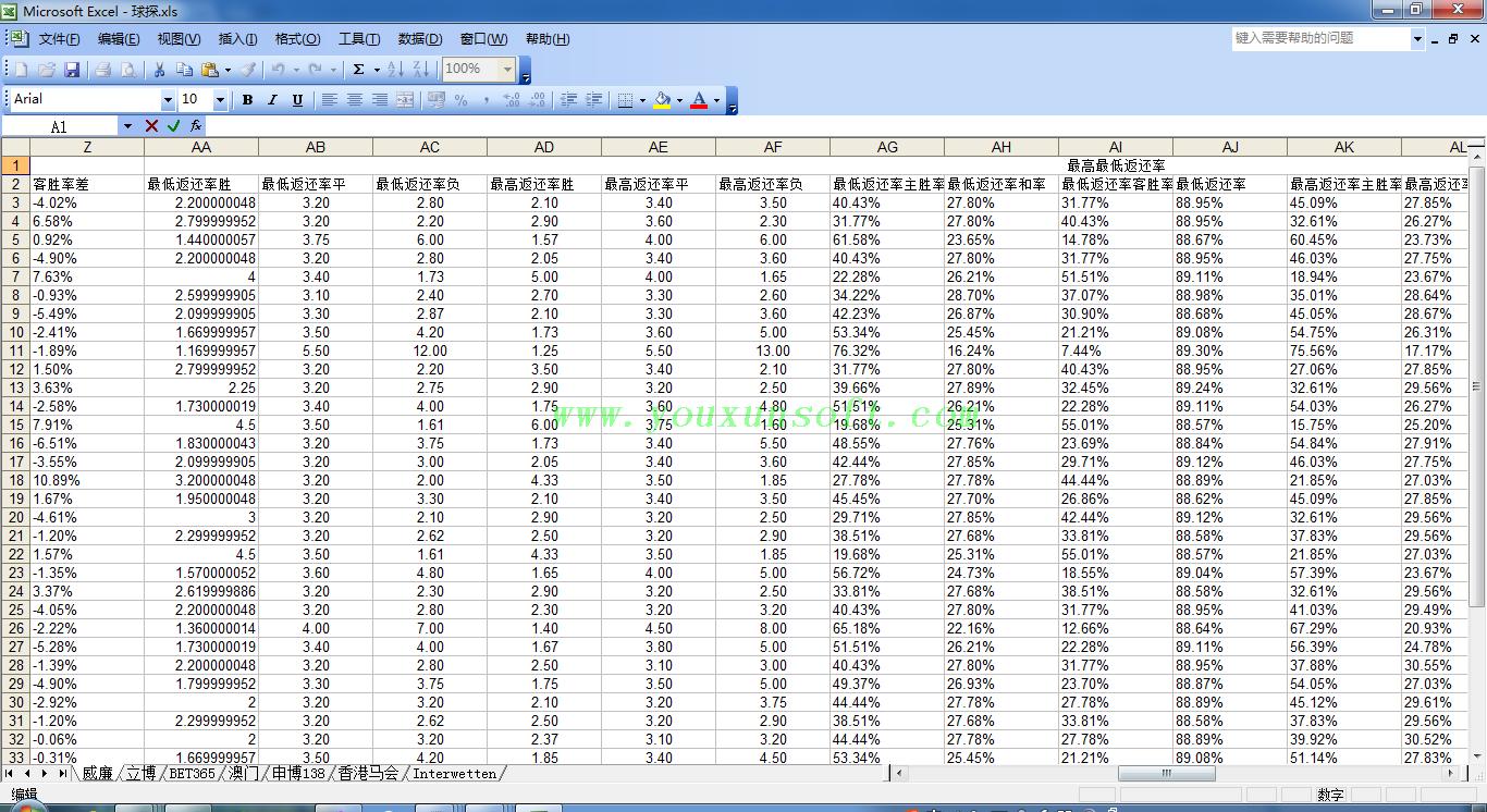 球探网足球赔率数据采集软件V10-8