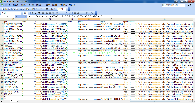 mouser电子元器件采集软件V3_7