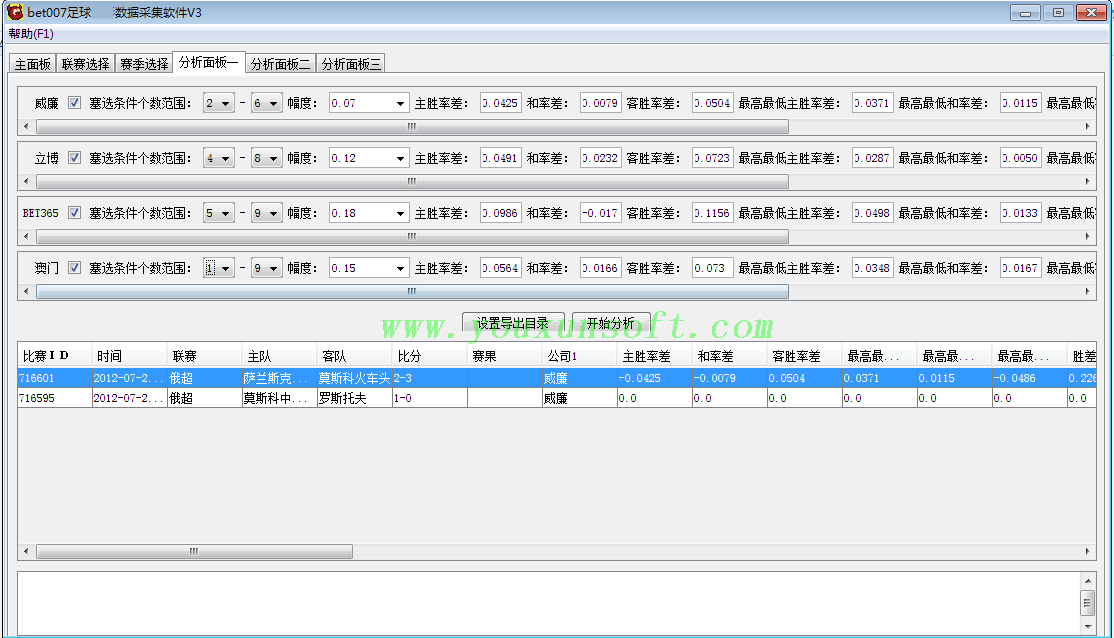 球探网足球赔率数据采集软件V3-6