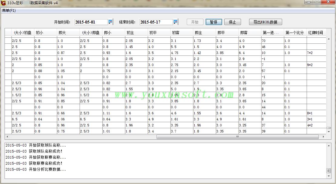 大赢家足球赔率数据采集软件V4-1
